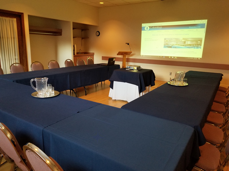 Corporate Meetings Are Enhanced In The Boardroom When You Book Your Meeting With Linens, Projector And Podium.  Don't Forget To Ask For Our Corporate Branding Concepts.